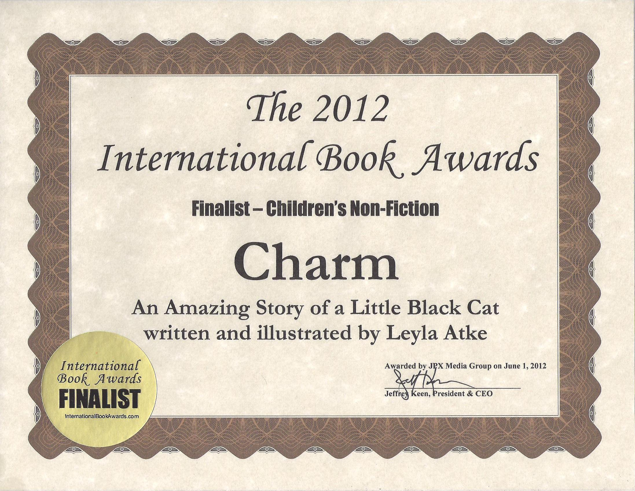 CHARM: AN AMAZING STORY OF A LITTLE BLACK CAT by Leyla Atke | Do you ...