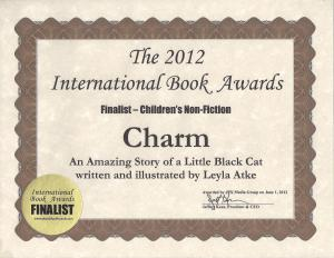 My International Book Awards Certificate